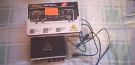 U-Phoria UMC202HD Beringer Audio interface