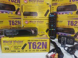 Эфирный цифровой ТВ DVB-T2 Тюнер приставка ресивер Т2 WV T62N IPTV