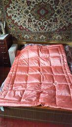 Продам новое атласное пуховое одеяло