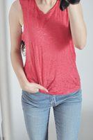 top bluzka 36 S 38 M neon koszulka bez rękawów asymetryczna oversize