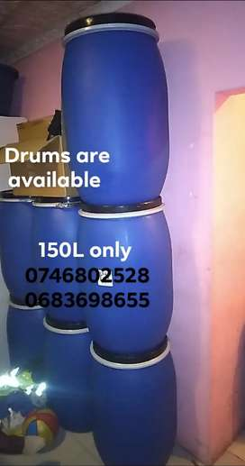 150L Drums available
