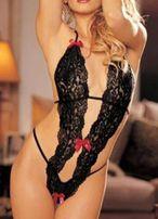 Erotyczne, seksowne body - czarne/białe (nie obsessive, calzedonia)