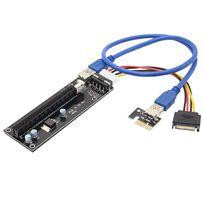 Райзер Riser PCI-E 1x to 16x Factory 006c USB 3.0 50см Molex 4Pin IDE