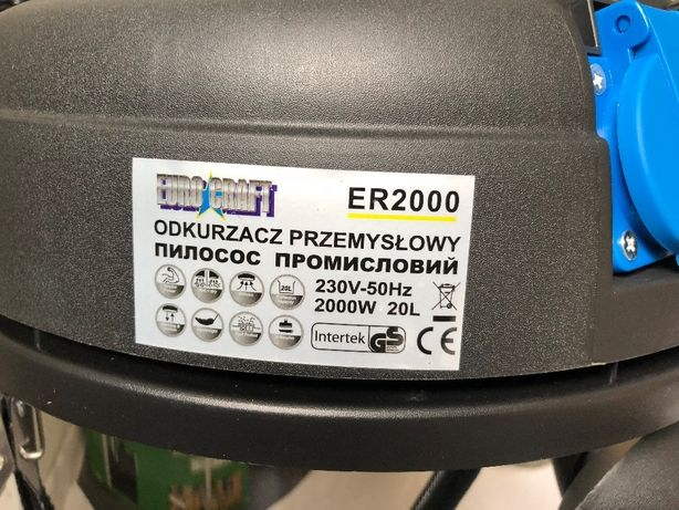 Пылесос промышленный строительный EURO CRAFT ER2000 Польша. Гарантия! Киев - изображение 5