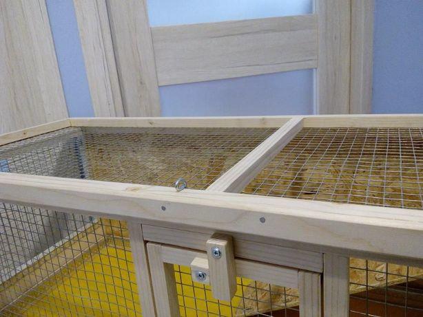 Klatka drewniana zagroda dla królika świnki morskiej. Myszków - image 5
