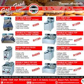 FAST FOOD Equipment on SPECIAL. We'll get you cooking!