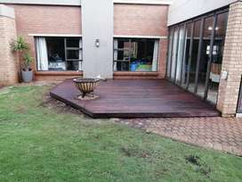 Swimming pools and wooden decking