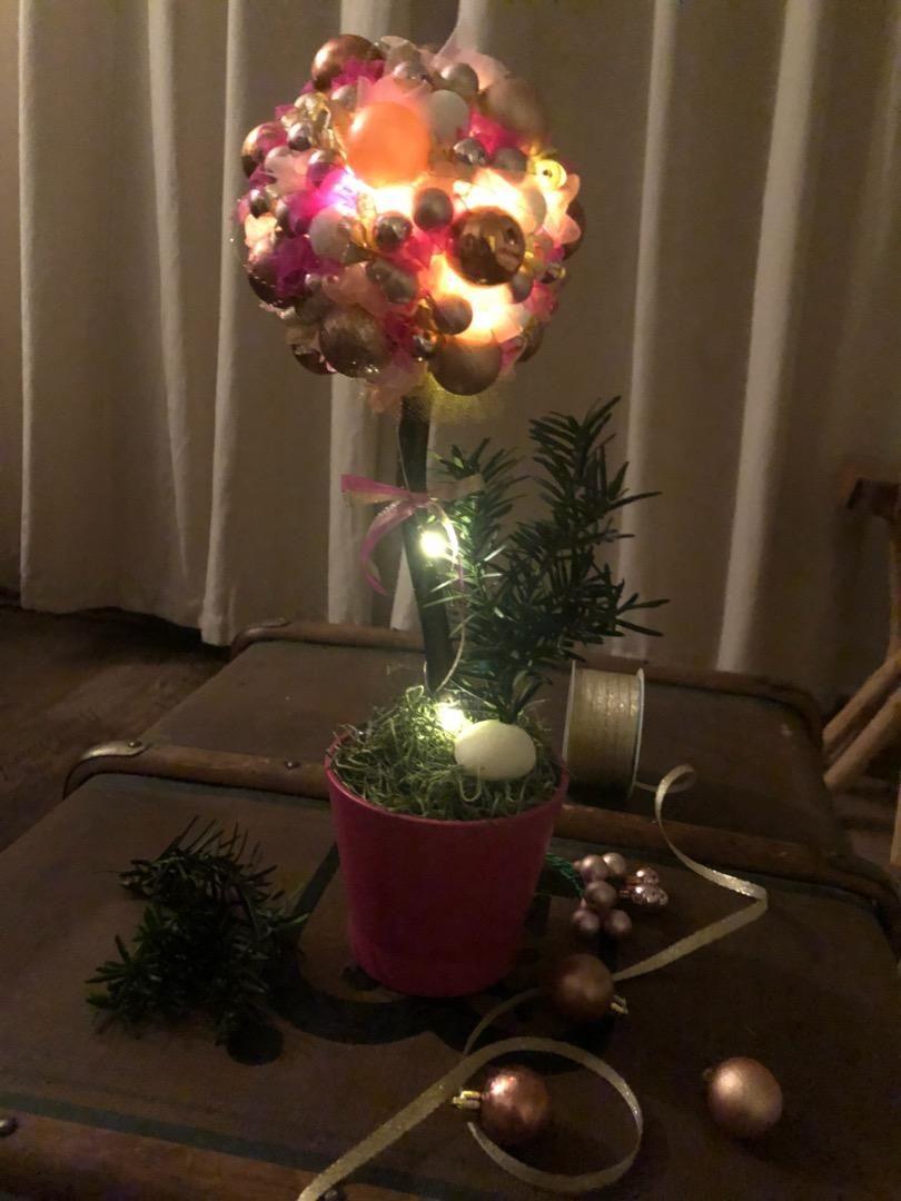 Vánoční koule růžová 0