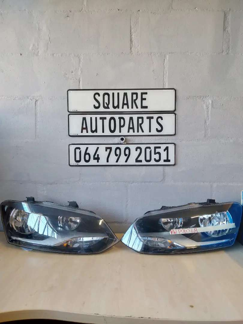 VW POLO 6 HEADLIGHT PAIR.