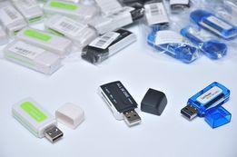 Картридер 4в1 USB 2.0 SD/SDHC/DV/Micro SD/Mini SD/M2 Card Reader