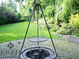 Grill ogrodowy Herman z ozdobnym rusztem stalowym 80 cm ES-ER