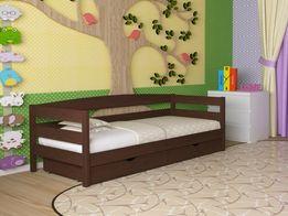 Детская кровать деревянная Нота 80х190 Массив сосны