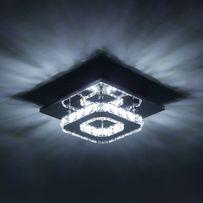 Nowoczesny żyrandol kryształowy LED 20x20x8cm NOWY plafon lampa OKAZJA