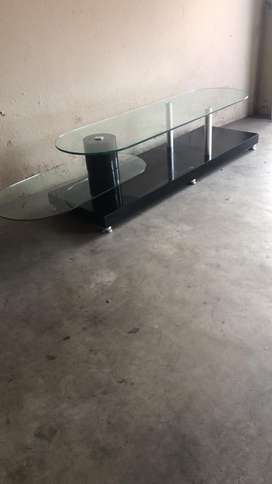 Modern Glass TV stand available for Grabs