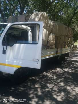Bakkies and trucks for hire.