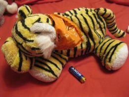игрушка мягкая тигр тигренок шарики фирма cuddles time типа атистресс