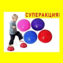 Полусфера массажная балансировочная, массажер для ног/стоп/детей
