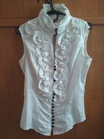 Блузка белая на пуговицах