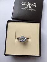 Серебренное кольцо с камнем