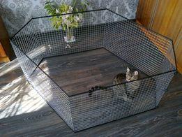 Вольер манеж клетка посекционно для собак щенков котят кроликов и пр.