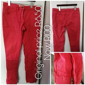 Country Road coral slim leg jeans