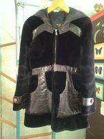 Отличный натуральный мутоновый полушубок - куртка 44-46 р.