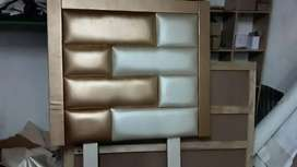 New designer cream & rose gold 3/4 padded headboard
