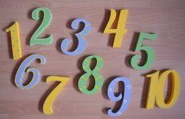 Cyfry ścienne ozdobne dziecięce