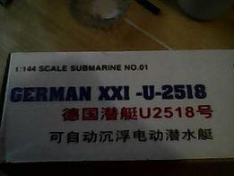 Продам модель подводной лодки