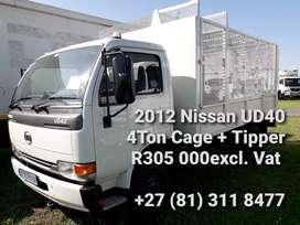 2012 Nissan UD40 4ton Cage with a Tipper