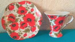 Чайная пара чашка с блюдцем Fine Porcelain в красивой упаковке