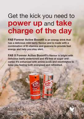 FAB and FAB X Forever Active Boost Energy Drinks