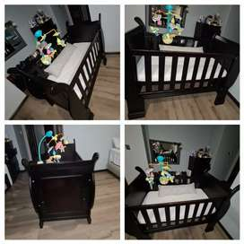 Baby Sliegh Cot + bounce Stroller