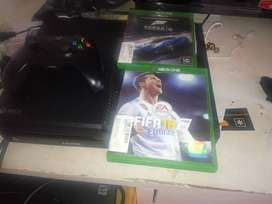 xbox one with two games for sale