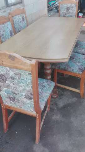 6seater table and chairs for sale