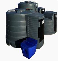 Zbiornik na olej napedowy paliwo z dystrybutorem filtr/separator