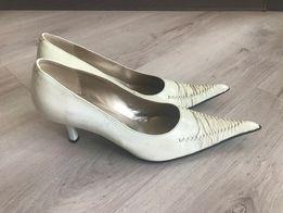 Белые кремовые туфли, размер 38