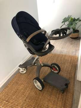 Stokke xplory pram, car seat and isofix