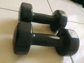 Trojan 5kg rubber coated dumbell set
