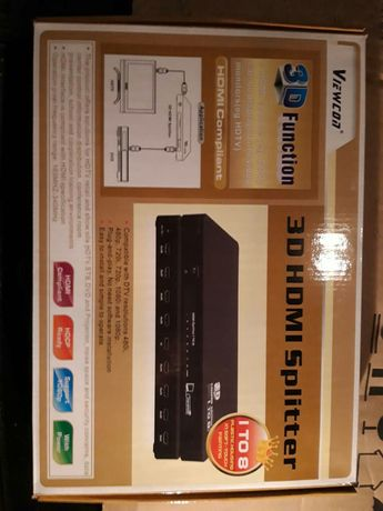 Разветвитель HDMI VIEWCON VE405.3D. 8-port