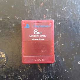 PS2 MEMORY CARD 8MB RED