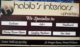 HABIBS UPHOLSTERY & INTERIOR DESIGNS