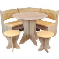 Кухонный уголок с круглым столом Боярин. В наличии разные цвета