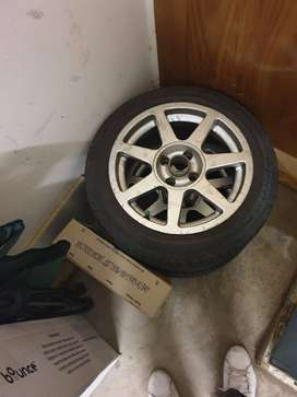"""15"""" TSW Rims with  195/50R15 Velocity Tyres For Sale"""