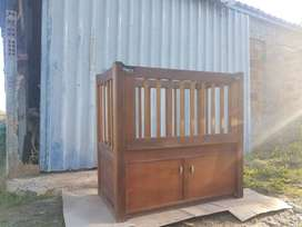Vintage Cot and Compactum for sale