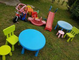 Zabawki ogrodowe Ikea Mammut Little Tikes ślizgawka,bujak, jeździk,