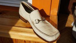 Итальянские туфли из кожи аллигатора (крокодил)