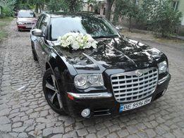 аренда Авто на свадьбу чёрный крайслер 300 с