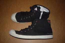 Кеды высокие на шнурках и молнии, черные, р. 41 (маломерки)