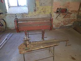 Maszyny blacharskie-dekarskie . Działające